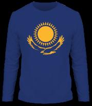 Мужская футболка с длинным рукавом Герб Казахстана