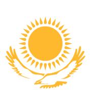Женская футболка с длинным рукавом Герб Казахстана