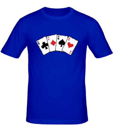 Мужская футболка  Четыре туза