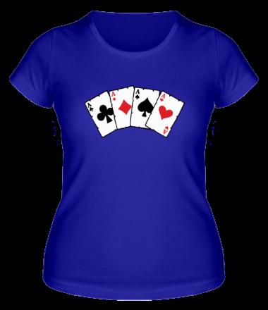 Женская футболка  Четыре туза