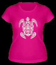 Женская футболка  Морская черепаха (свет)