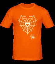 Мужская футболка  Паутина любви свет