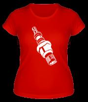 Женская футболка  Свеча накаливания