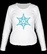 Женская футболка с длинным рукавом Кристальная снежинка