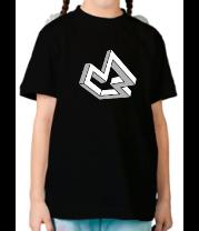 Детская футболка  Оптическая иллюзия