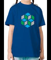 Детская футболка  Кубики