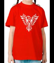 Детская футболка  Феникс узор