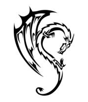Коврик для мыши Дракон в тату стиле