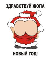 Толстовка Жопа новый год