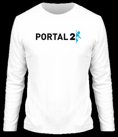 Мужская футболка с длинным рукавом Portal 2
