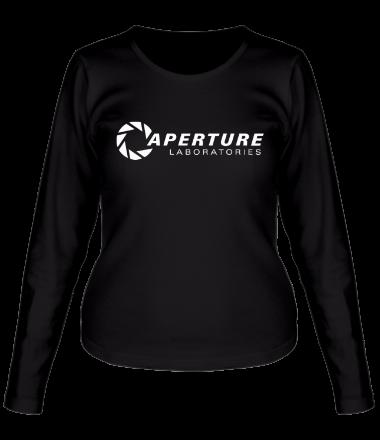 Женская футболка с длинным рукавом Aperture Laboratories