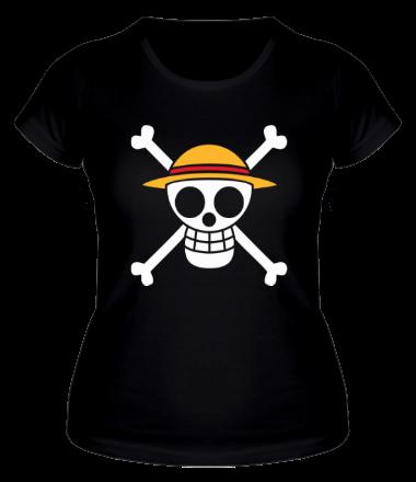 Женская футболка  Флаг Луффи