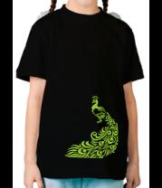 Детская футболка  Павлин