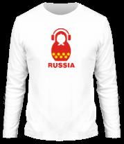 Мужская футболка с длинным рукавом Russia dj