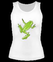 Женская майка борцовка Зеленая лягушка