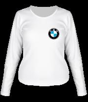 Женская футболка с длинным рукавом Logo BMW