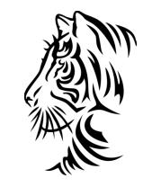 Женская майка борцовка Тату тигр