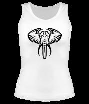 Женская майка борцовка Слон тату