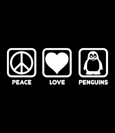 Толстовка Peace love penguins