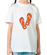 Детская футболка  Летние шлепки