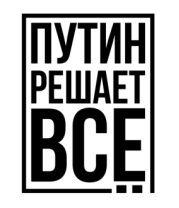 Мужская футболка  Путин решает всё