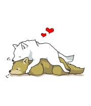 Мужская футболка  Влюбленные волки