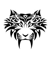 Толстовка без капюшона Голова тигра в тату стиле