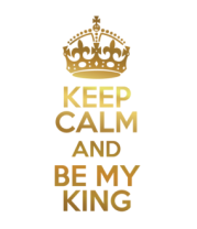 Толстовка Keep calm and be my king
