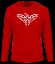 Мужская футболка с длинным рукавом Тату силуэт орла