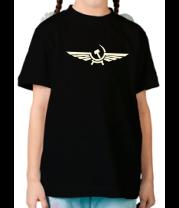 Детская футболка  Серп и молот в виде орла (свет)