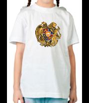 Детская футболка  Армения герб