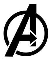 Женская майка борцовка The Avengers Symbol