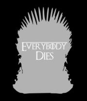 Женская футболка с длинным рукавом Everybody dies - трон