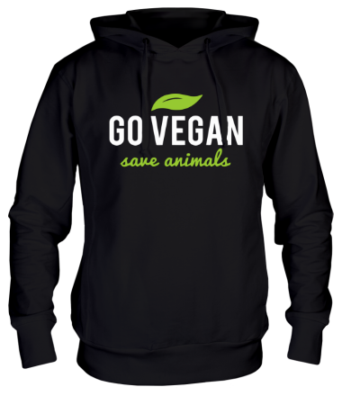 Толстовка Go Vegan Save Animals