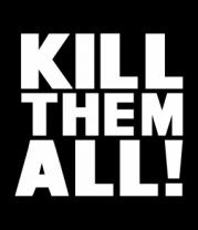 Женская футболка  Kill the all