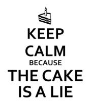 Женская майка борцовка Keep calm because the cake is a lie