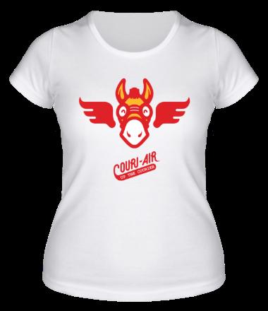 Женская футболка  Up the courier
