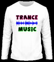 Мужская футболка с длинным рукавом Trance music