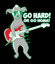 Женская футболка  Собака с гитарой