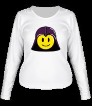 Женская футболка с длинным рукавом Дарт вейдер смайлик