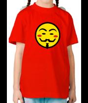 Детская футболка  Вендета смайлик