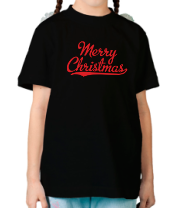 Детская футболка  Merry christmass