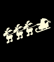 Мужская майка Дед мороз с оленями