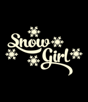Женская майка борцовка Snow girl (снегурочка)