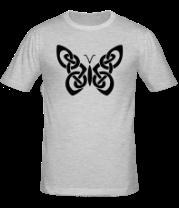Мужская футболка  Бабочка из кельтских узоров