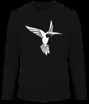 Мужская футболка с длинным рукавом Колибри