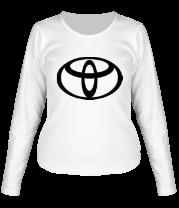 Женская футболка с длинным рукавом Toyota big logo