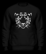 Толстовка без капюшона Морда тигра