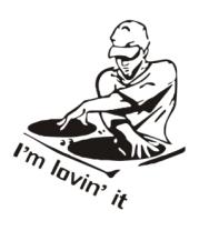 Мужская футболка  Dj - I am lovin it