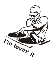 Женская футболка  Dj - I am lovin it
